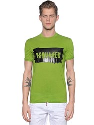 Dsquared Rubberized Logo Cotton Jersey T Shirt