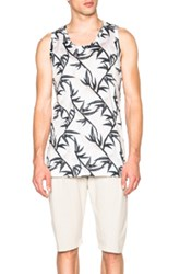 Marc Jacobs Shadow Leaf Jersey Oversize Tank In Floral Gray Green