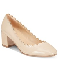 Wanted Mia Block Heel Pumps Women's Shoes Taupe Patent