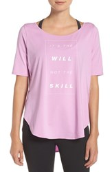 Under Armour Women's 'It's The Will' Graphic Jersey Tee Verve Violet Mauve Mist