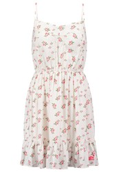 Superdry Summer Girl Summer Dress Vintage Rose Bud Beige