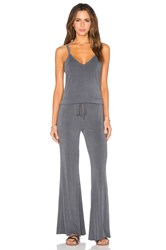Feel The Piece Paradise Tie Waist Jumpsuit Gray
