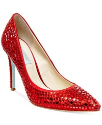 Blue By Betsey Johnson Ariel Evening Pumps Women's Shoes Red