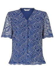 Eastex Lace Blouse Navy
