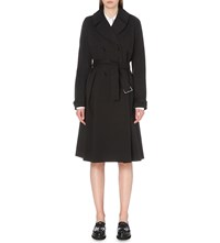 Claudie Pierlot Garden Stretch Cotton Trench Coat Noir