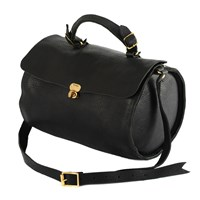 Nette' Leather Goods Taylor Large Duffle Bag Black Brown