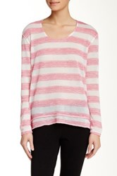Steve Madden Twisted Back Long Sleeve Tee Pink