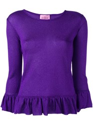 'D'enia' Knit Blouse Pink Purple