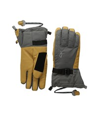 Outdoor Research Revolution Gloves Charcoal Natural Extreme Cold Weather Gloves Gray
