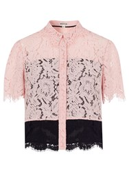 Whistles Scalloped Lace Shirt Multi