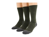 Fox River Trail Crew 3 Pair Pack Moss Crew Cut Socks Shoes Green