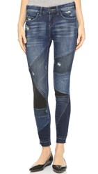 Blank Patchwork Distressed Jeans Ball And Chain