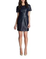 1 State Faux Leather Shift Dress Nightshade