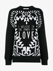 Givenchy I Believe In The Power Of Love Sweatshirt Black White