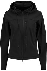 Theory Ionize Stretch Twill Hooded Jacket Black