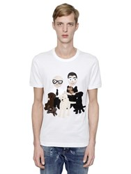 Dolce And Gabbana Dg Family Patches Cotton Jersey T Shirt
