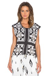 Sass And Bide It's All Real Top Black And White