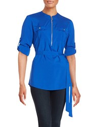 Calvin Klein Zip Placket Tunic Celestial
