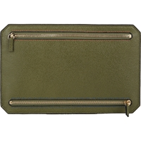 Valextra Four Zip Travel Wallet Olive