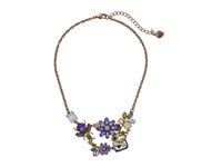 Betsey Johnson Spring Fling Purple Flower Bug Frontal Necklace Purple Necklace