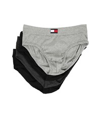 Tommy Hilfiger Cotton Hip Brief 4 Pack Black Men's Underwear
