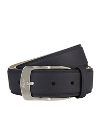 Brioni Matte Grain Leather Belt Unisex Navy
