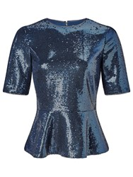 John Lewis Sequin Top Navy