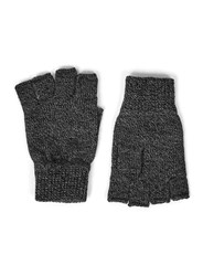Topman Black And Grey Twist Yarn Fingerless Gloves