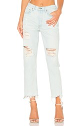 Grlfrnd X Revolve Helena High Rise Straight Leg Jean Let It Be
