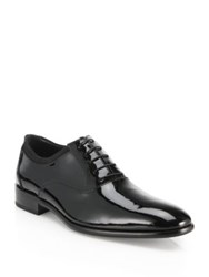Salvatore Ferragamo Aidan Patent Leather Lace Up Shoes Nero