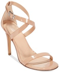Charles By Charles David Rookie Strappy Dress Sandals Women's Shoes Nude Patent