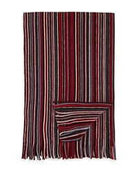 Bloomingdale's The Men's Store At Pencil Stripe Scarf Red