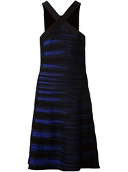 Ohne Titel Halter Neck Flared Dress Blue