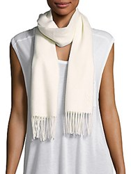 Yves Saint Laurent Wool And Cashmere Scarf White