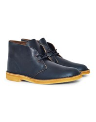 Clarks Originals Leather Desert Boot Navy