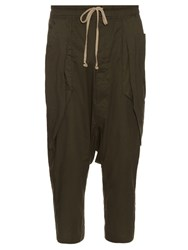 Rick Owens Anthem Dropped Crotch Cargo Trousers