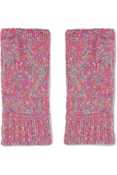 Autumn Cashmere Fingerless Gloves Pink