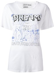Enfants Riches Deprimes Distressed T Shirt White