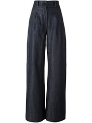 Societe Anonyme High Waisted Trousers Blue