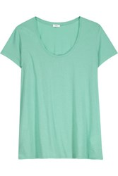 Vince Pima Cotton Jersey T Shirt Light Green