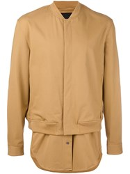 3.1 Phillip Lim Shirt Tail Bomber Jacket Yellow And Orange