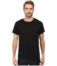 Rustic Dime Asymmetrical Long Tee Black Men's T Shirt