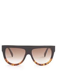 Celine D Frame Flat Top Sunglasses Black