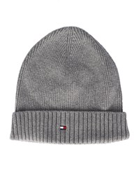 Tommy Hilfiger Grey Cotton And Cashmere Hat