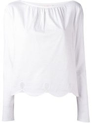 See By Chloe Scalloped Hem Blouse White
