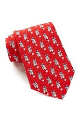Alara Silk Rocker Republican Tie Red
