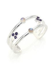 Pamela Love Duality Levitation Moonstone And Iolite Cuff Bracelet Silver