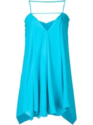 Plein Sud Jeans Plein Sud Long Asymmetric Hem Top Blue