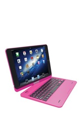 Pink Bluetooth Keyboard Hard Case For Ipad Air