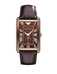 Emporio Armani Mens Brown Roman Numeral Watch